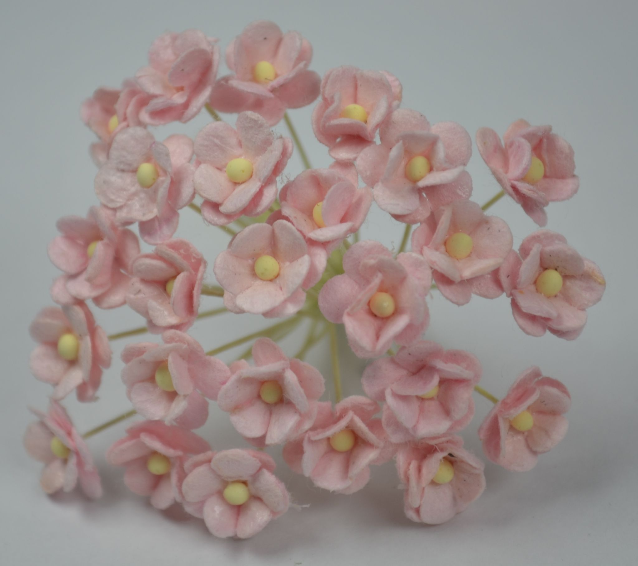 13cm Very Light Pink Double Layered Daisy Mulberry Paper Flowers