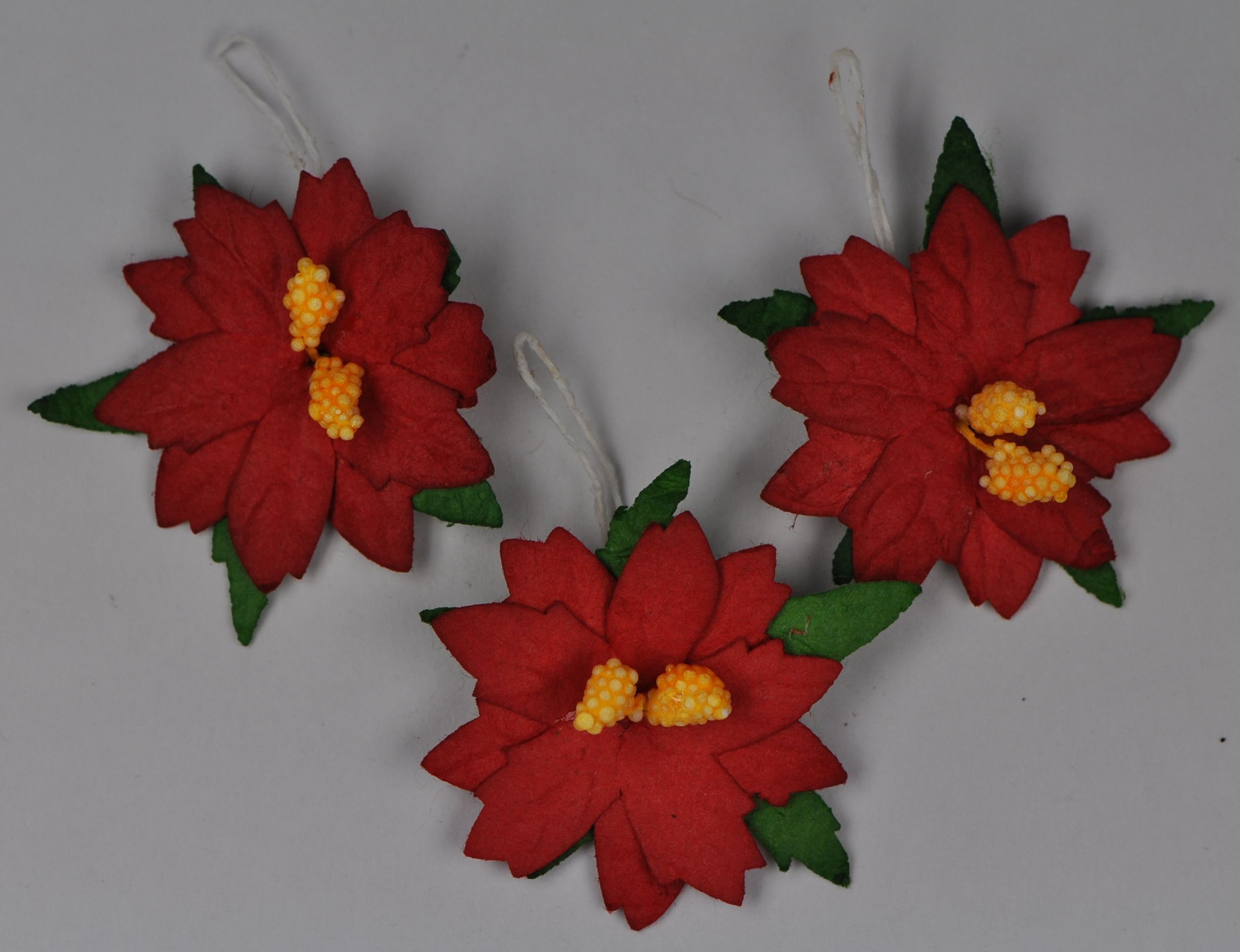 30 Cm Red Flathead Poinsettia Mulberry Paper Flowers