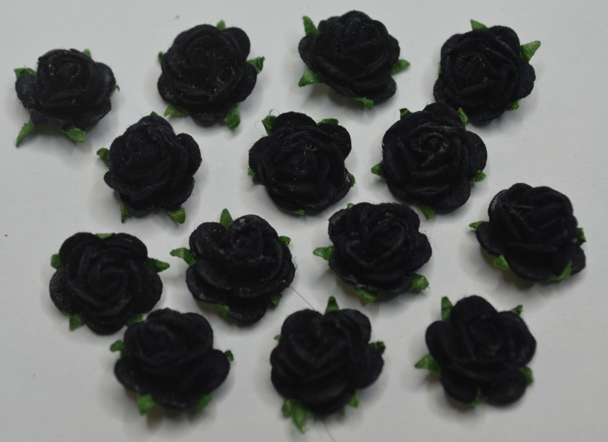 Midnight Blue Black Mulberry Paper Roses Only Flower Head