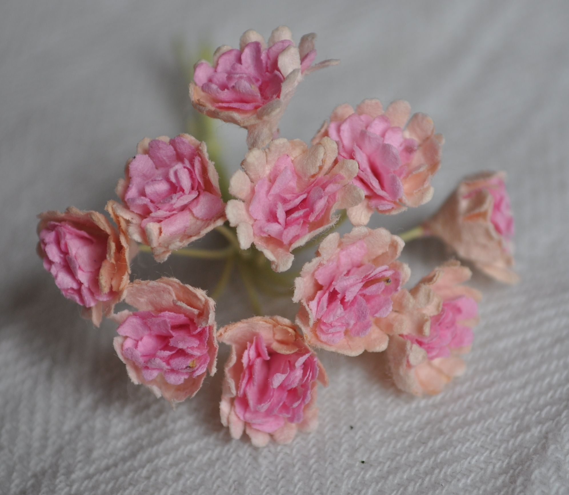 Pale Pink Pink Center Gypsophila Forget Me Not Mulberry Paper Flowers